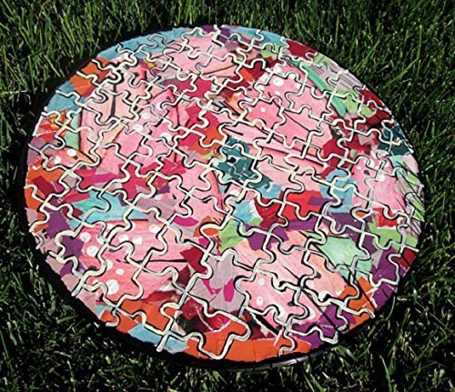 PUZZLE MOSAIC RECYCLED original paintings collages upcycled repurposed mosaic painting vinyl record creative artwork best selling items by StickyKitties