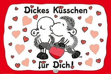 Sheepworld Dickes Kusschen Sheepworld Poster Grosse 91 5x61 Cm