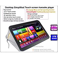 ACEUME 15.6'' Desktop Touch All-In-One Screen Karaoke Player 5TB HDD 57K Songs Vietnamese +English Controlling Both Via Monitor and Mobile Device Update to Nov.2017