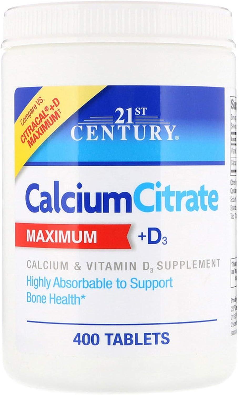 Calcium Citrate Maximum Vitamin D3 Bone Health 400 Tablets