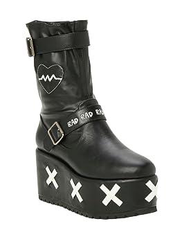 Uton - Yuka Black Platform Boots