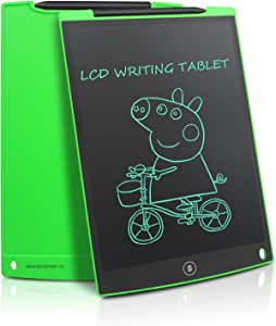 Updated 12 Inch LCD Writing Tablet Doodle Pad Drawing Board Office Whiteboard Fridge Memo Magnet Message Boards Gifts for All Ages (Green)