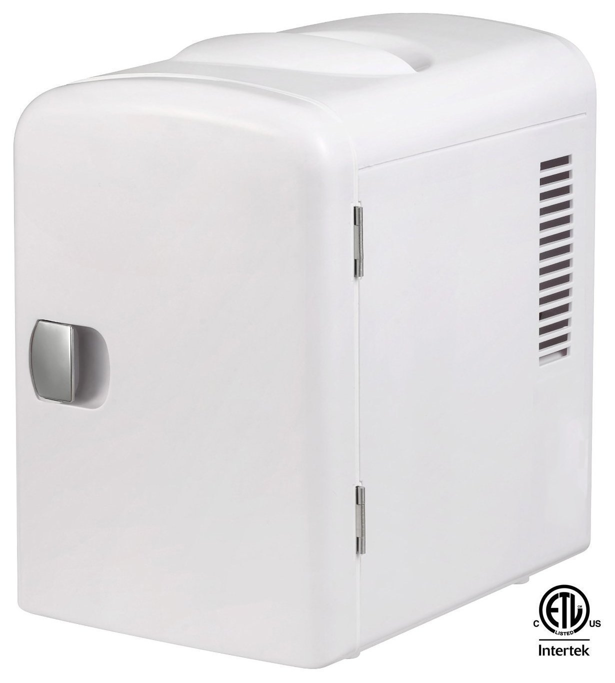 Gourmia GMF600 Thermoelectric Mini Fridge Cooler and Warmer - 4 Liter/6 Can - For Home,Office, Car, Dorm or Boat - Compact & Portable - AC & DC Power Cords - White