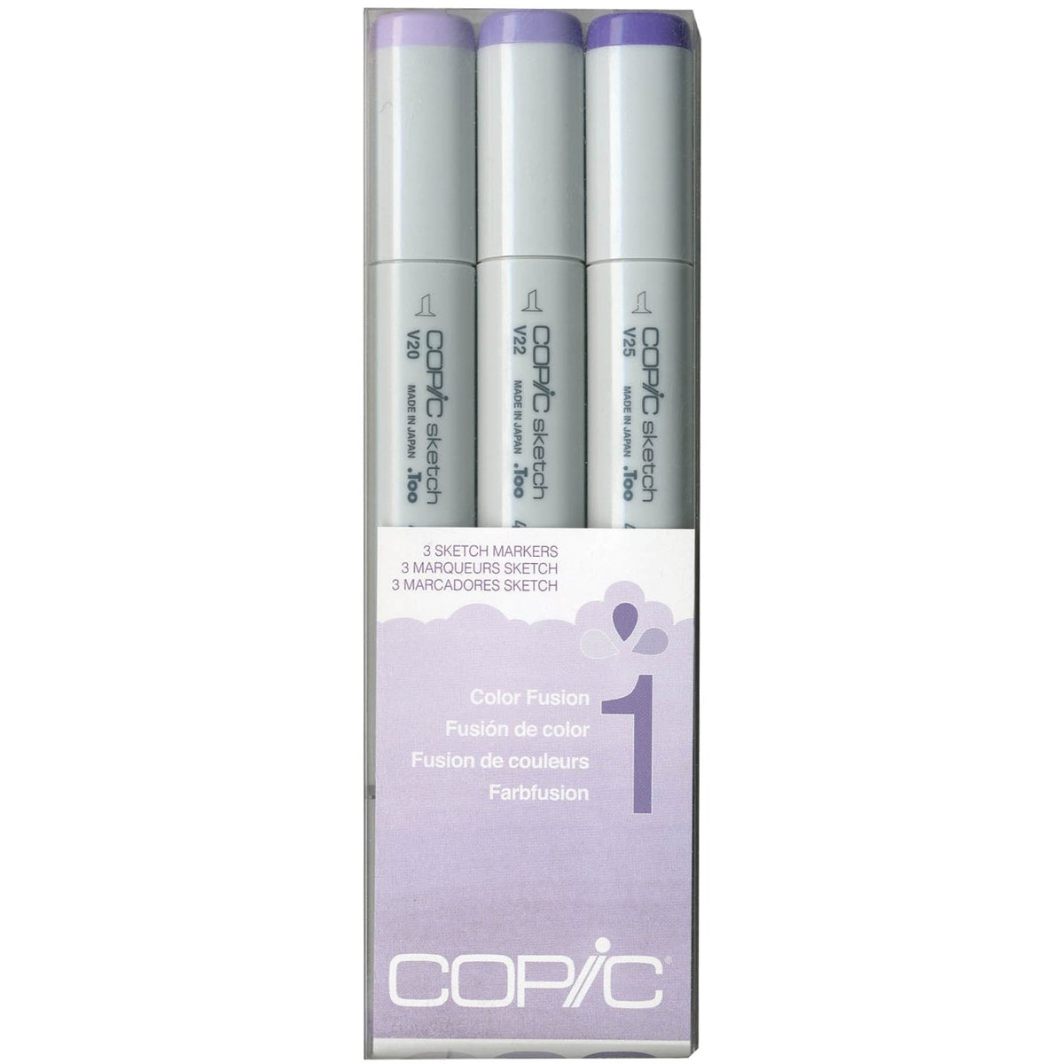 Copic Marker Sketch Color Fusion Markers, CSCF 1, 3-Pack