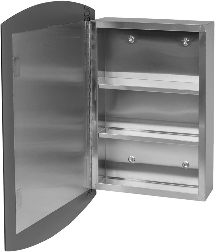 24 Stainless Steel Medicine Cabinet Mirrored Wall Mount Renovator s Supply