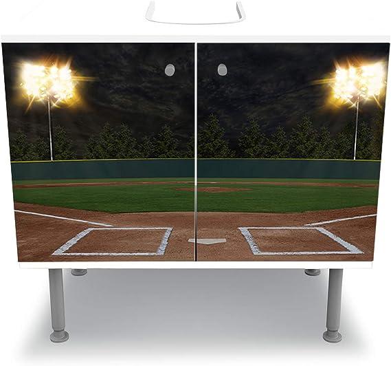 wandmotiv24 Mueble de baño Estadio de Baseball Pegado Frontal ...