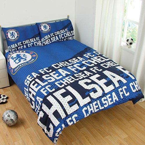 Official Football Team EPL Gift Chelsea F.C. Double Duvet Set IP ()