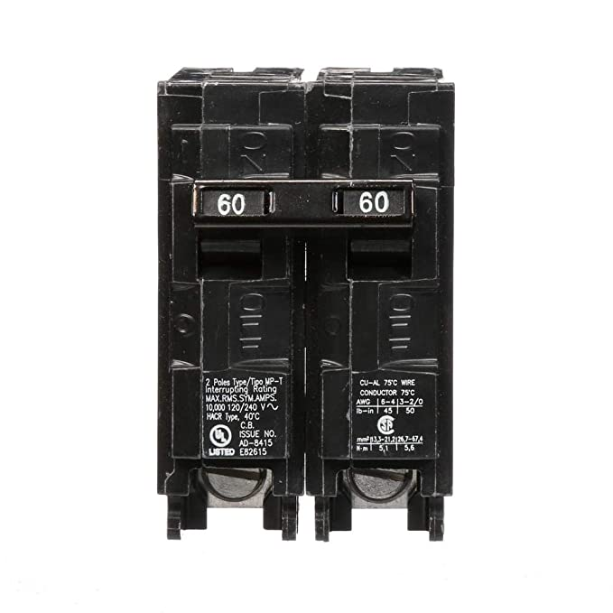 MP260 60-Amp Double Pole Type MP-T Circuit Breaker