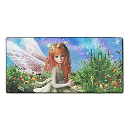 0694b72e9d Image Unavailable. Image not available for. Color  YSKHDBC Fantasy Fairy  Artistic Little Girl Grass Flower Wings ...