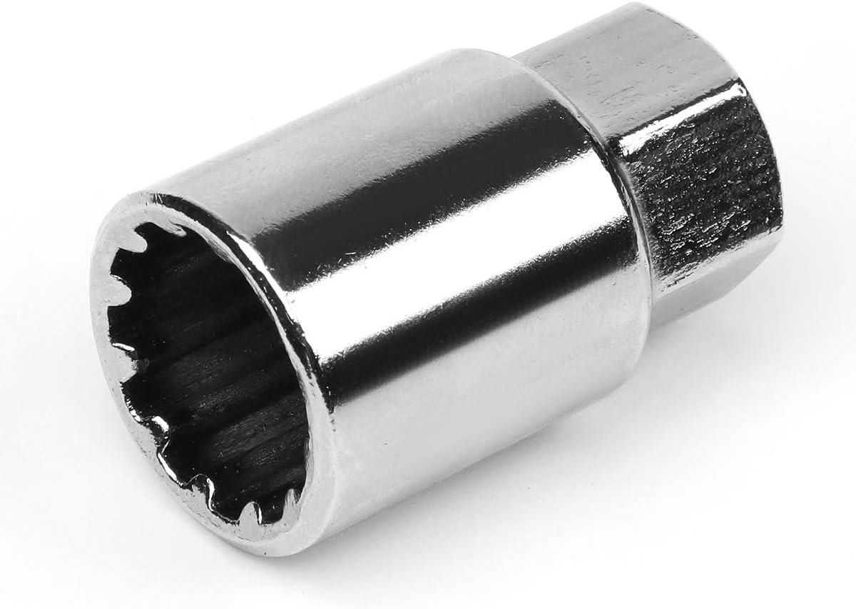 J2 Engineering LN-T7-002-15-SL Silver 7075 Aluminum M12X1.5 16Pcs L 50mm Open End Lug Nut w//4Pcs Lock+Key