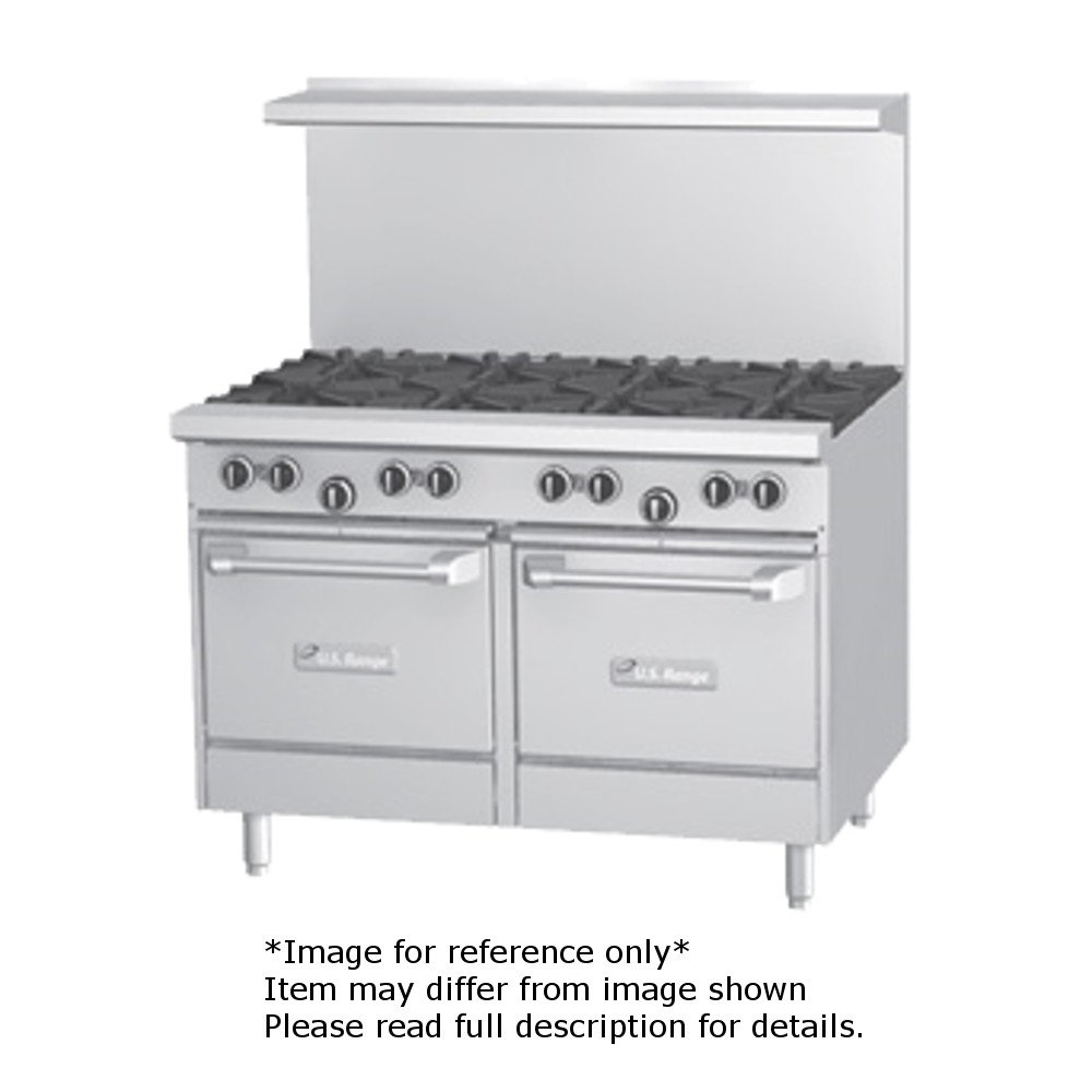 Garland U48-2G36LL U Series 48'' Gas Restaurant Range with (2) 32,000 BTU Open Burners, 36'' Griddle & (2) Space Saver Ovens by Garland/US Range