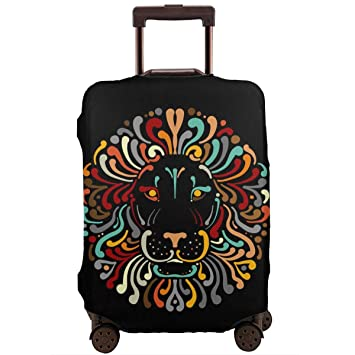 Cactus Pattern Travel Luggage Cover Stretchable Polyester Suitcase Protector Fits 18-20 Inches Luggage
