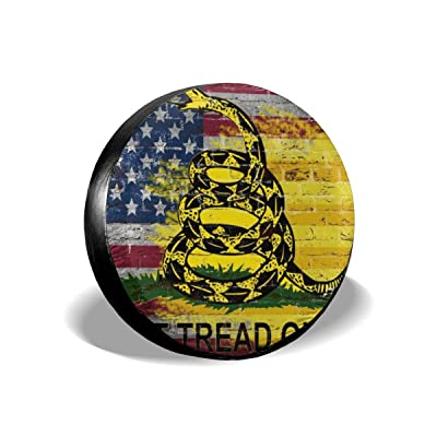 Dont Tread On Me American Flag Leader Accessories Spare Tire Cover,Waterproof Dust-Proof(Fit 23-32 Inches): Clothing [5Bkhe1500591]