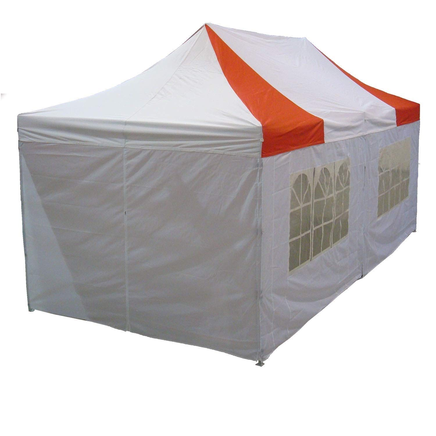Delta 10 x20 Pop up 6 Walls Canopy Party Tent Gazebo Ez Red White – F Model Upgraded Frame Canopies