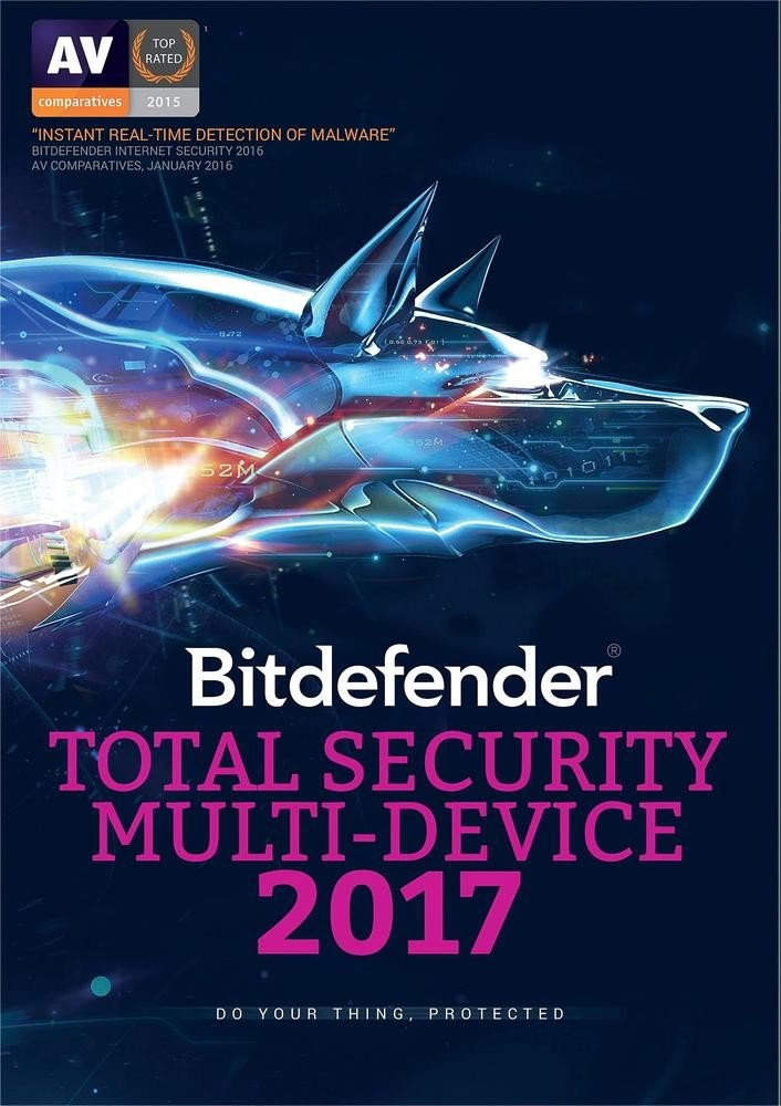 Bitdefender Total Security Multi-Device 2017: 5-Devices for 1-year, Retail Physical Disk Edition, Includes FREE UPGRADE to version 2018)