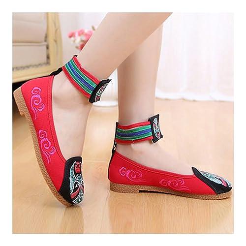 del Maquillaje de Paño Amazon Estilo es Zapatos y Chino Bordados Pekín Facial complementos de Zapatos Negro 58qBwIX
