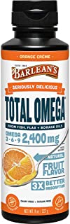 product image for Barlean's Seriously Delicious Total Omega, Orange Crème, 8-oz