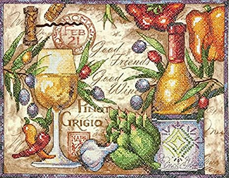 Wolf Kiss Dimensions Counted Cross Stitch Kit 14 Count Black Aida 14 x 11