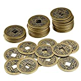 #6: WXJ13 1 Box 50 Pieces Feng Shui Chinese Coins Ancient China Dynasty Time Coin Lucky Fortune Coins