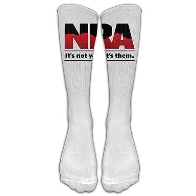 NRA- Gun Athletic Team Football Soccer Stock Long Knee High Stockings Tights Unisex Women