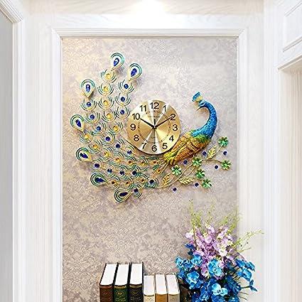 Amazon Wall Clocks Peacock Creative Living Room Bedroom Modern