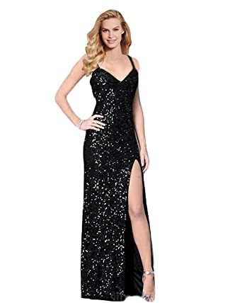 Lily Wedding Womens Sexy Sequined Prom Dress 2018 Long Slit Mermaid Evening Formal Party Gowns P182