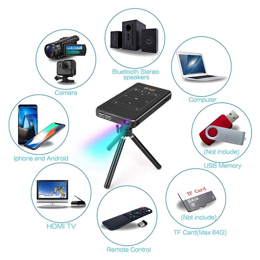 Proyector portátil, 18 mm Slim 4K DLP Pocket HD Mini Proyector ...