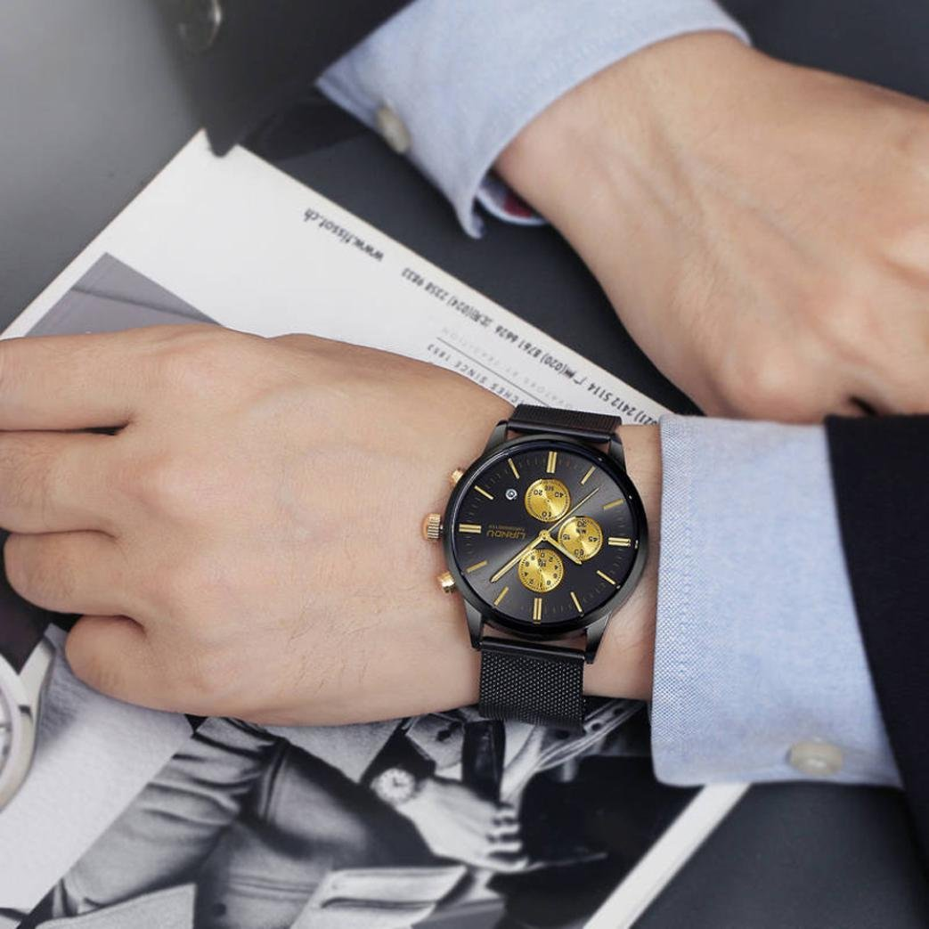 Amazon.com: Pocciol Watches Waterproof Sport Watch Luminous Analog Quartz Business Luxury Dress Wrist Watch Casual Clock Watches for Men (Black): Clothing