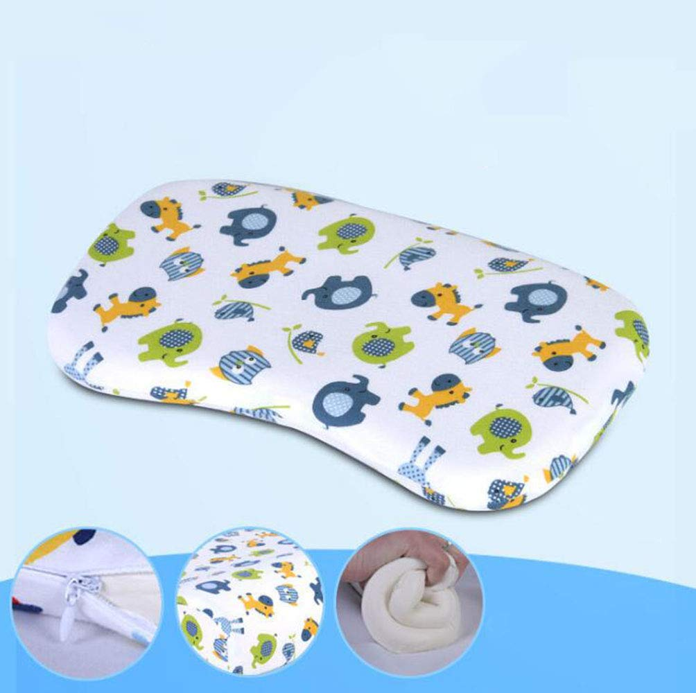 Baby Pillow - Newborn Baby Memory Foam Pillow Prevent Plagiocephaly Flat Head Syndrome,Free DELIVERY (Color : A) VTAV