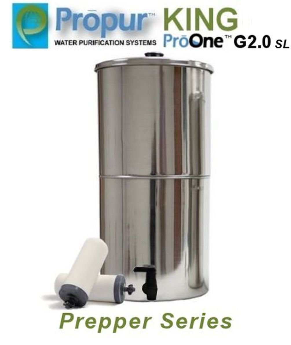 Onermade ProPur KING Water Filter Prepper Series System + 2 ProOne G2.0 SL 9'' Filters
