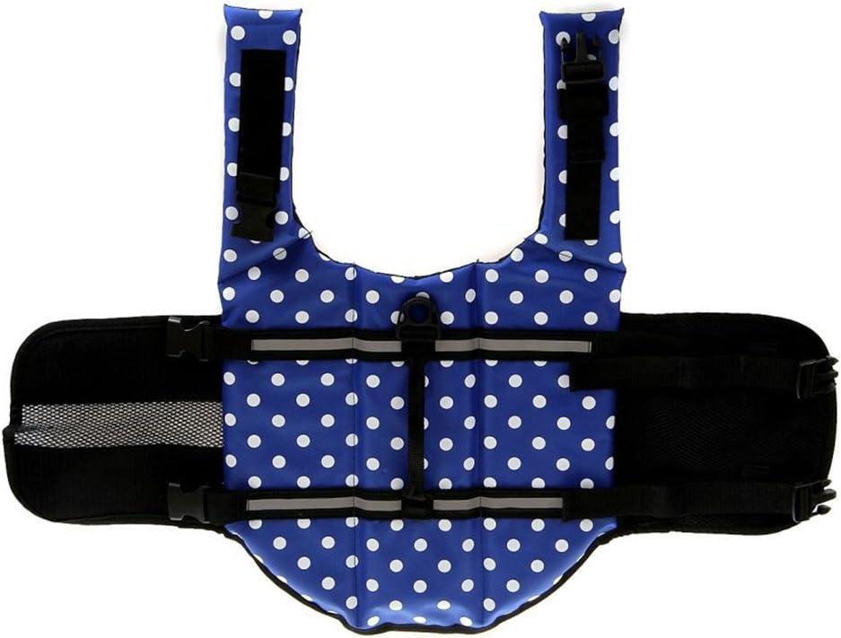 ChezAbbey Dog Life Jacket Adjustable Dog Lifesaver Preserver Swimsuit Dog Life Vest for Swimming and Boating