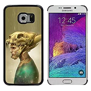 Colorful Printed Hard Protective Back Case Cover Shell Skin for Samsung Galaxy S6 EDGE / SM-G925 / SM-G925A / SM-G925T / SM-G925F / SM-G925I ( Mask Skull Superhero Costume Art Painting )