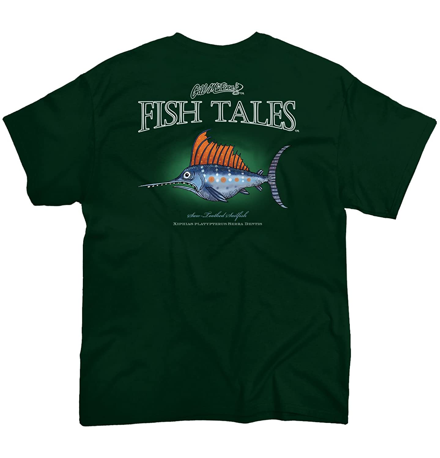 Saw-Toothed Sailfish Fish Sporting Goods Fishing Gear Funny T Shirt Tee