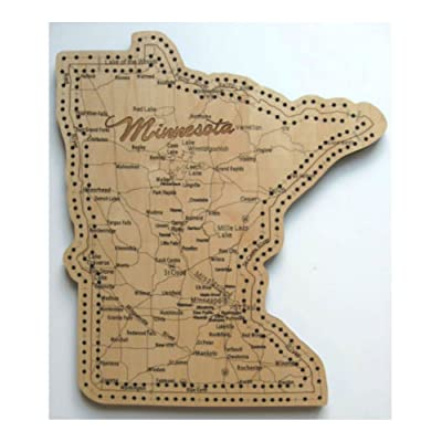 Minnesota State Shape Road Map Cribbage Board: Everything Else
