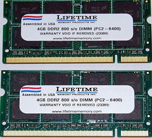 جدید! 8 GB (2x4GB) DDR2-800 SODIMM Laptop Memory PC2-6400 برای Dell Inspiron 1545