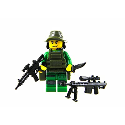 Battle Brick Special Forces Sniper (SKU48) Custom Minifigure: Toys & Games