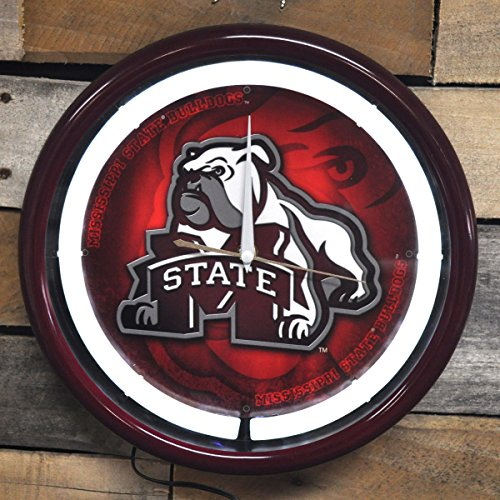 Plasma Clock State (Authentic Street Signs NCAA College Team Plasma Clock (Mississippi State))