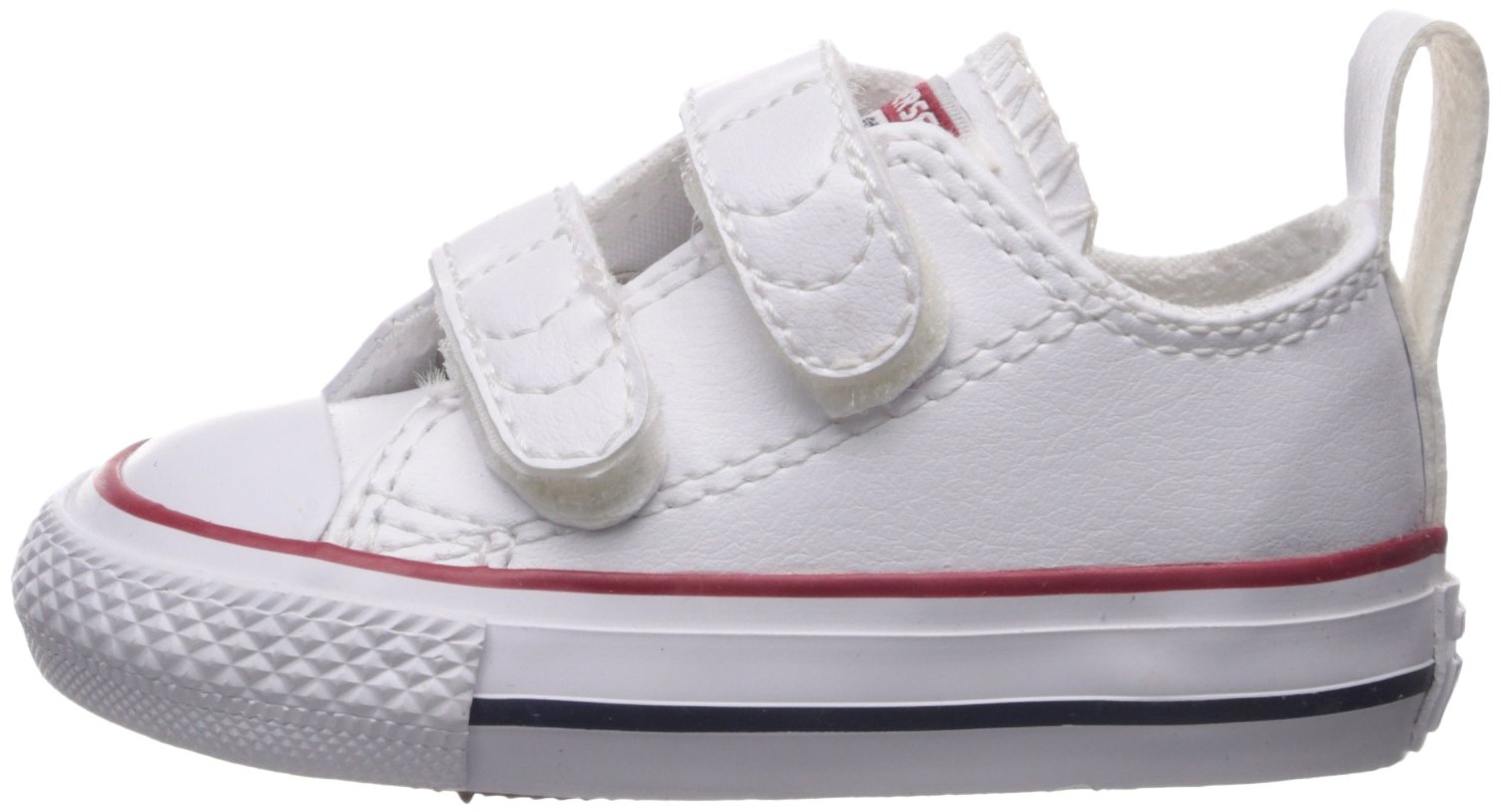 Converse Girl's Chuck Taylor All Star 2V Leather Low Top Shoe, White, 4 M US Toddler by Converse (Image #5)