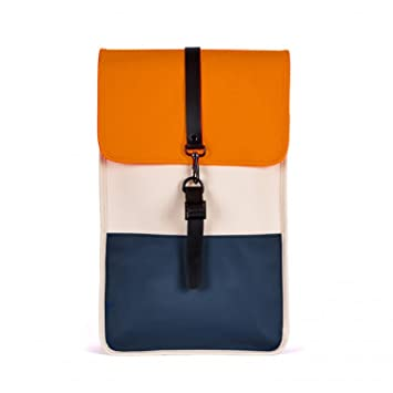 RAINS Waterproof Backpack Navy Sand Orange  Amazon.co.uk  Luggage 0fb050b78c17c
