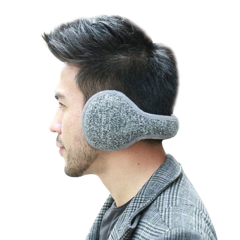 Elfjoy Unisex Ear Warmers Fashion Outdoor Plush Foldable Winter Earmuffs Cold Weather (Grey)