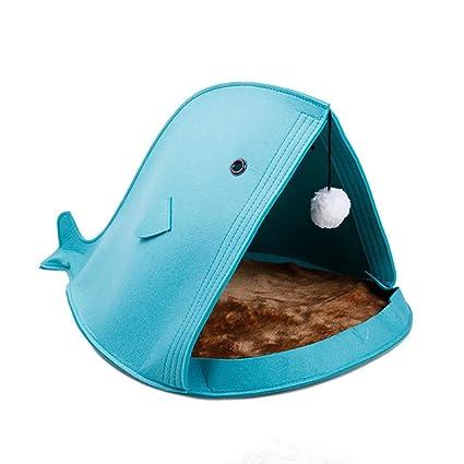 Bescita - Cama para Mascotas con Forma de tiburón para Perro, Gato, Cachorro,