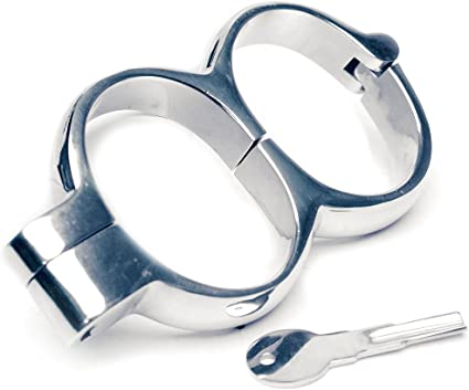 Small New Irish 8 Hamburg Lock Snap Shut Quick Release Push Key Handcuffs