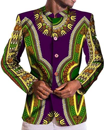M Africana Lungo Di Stampa Giacche W Manicotto Blazer 12 S Uomini amp; Degli Sottile E r7Hrgq