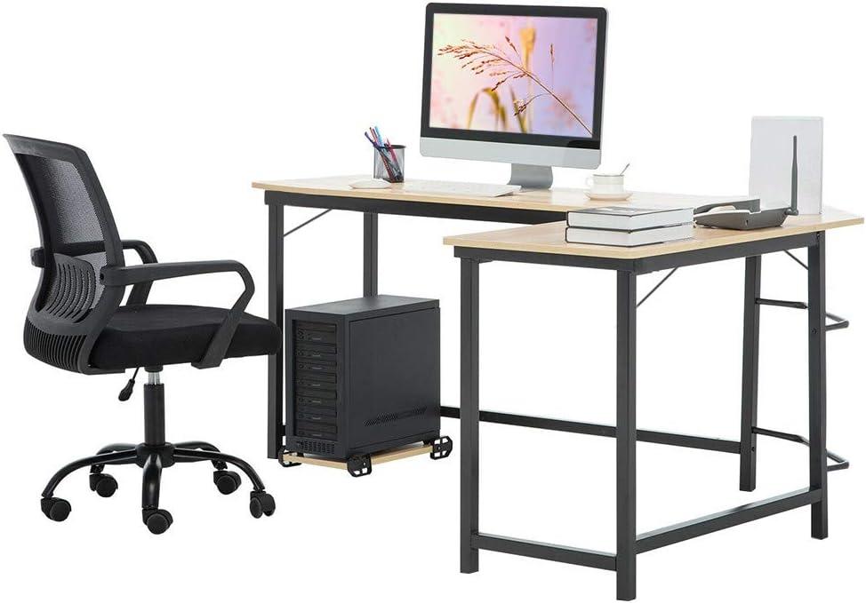 Fukasse L Shaped Desk Computer Desk 49 2 X 18 9 Modern Corner Desk Large Writing Study Table Pc Laptop Workstation Home Office Desk For Study Room Bedroom Office Room Living Room White Home