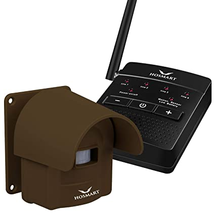 amazon com 1 4 mile long range rechargable driveway alarm wireless