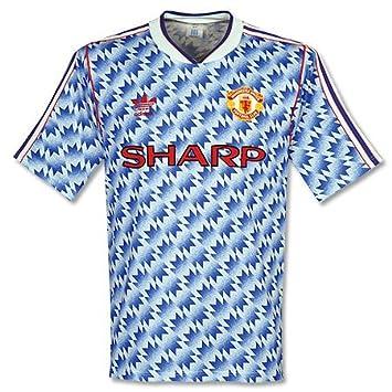 c04eb5226c4 adidas 90-92 Man Utd Away Shirt - Used - L  Amazon.co.uk  Sports ...