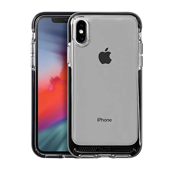 sale retailer bc595 a486a LAUT - Fluro Crystal for iPhone Xs Max | Drop Test Certified | Crystal  Clear | Durable (Black)