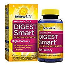 Renew Life - Digest Smart Women's Care - plant-based enzyme supp