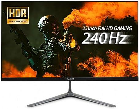 NEWSYNC - Monitor de ordenador para videojuegos (240 Hz, 1 ms, Full HD, 1080p, LED, HD, HD,