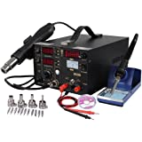 Yescom 853D 3in1 Displays Soldering Iron ReWork Station SMD Solder Iron Hot Air Gun DC Power Supply